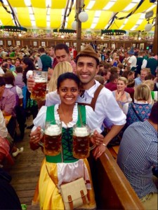 Mrs and Mrs FOMOist at Oktoberfest