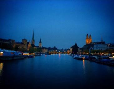 Zurich by night Switzerland