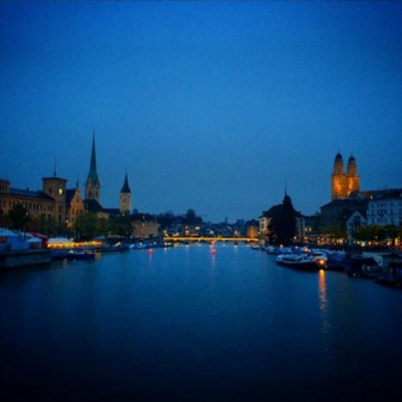 Zurich by night Switzerland