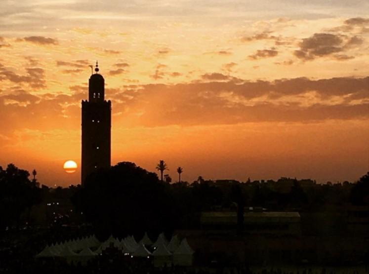 Koutoubia Minaret Sunset Morocco