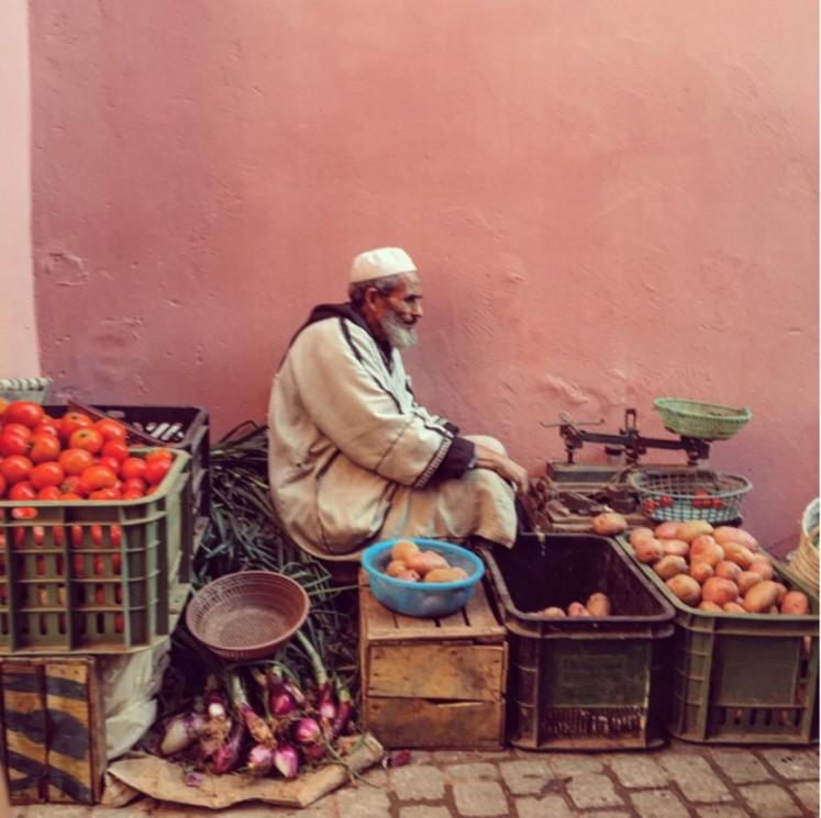 Vegetable vendor Marrakech