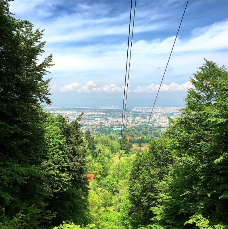 View from Vitosha Mountain, Sofia