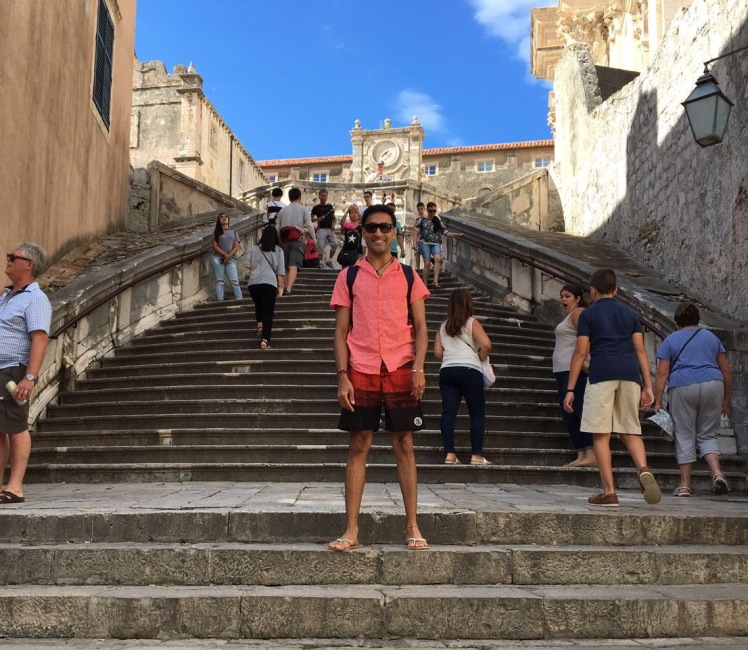My clothed walk of atonement in Dubrovnik