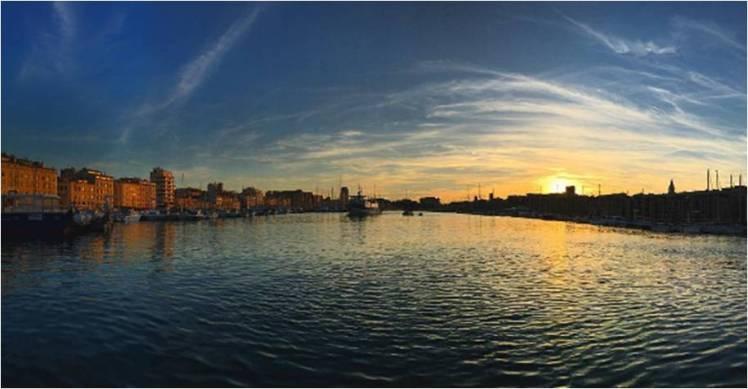 Sunset in Marseille