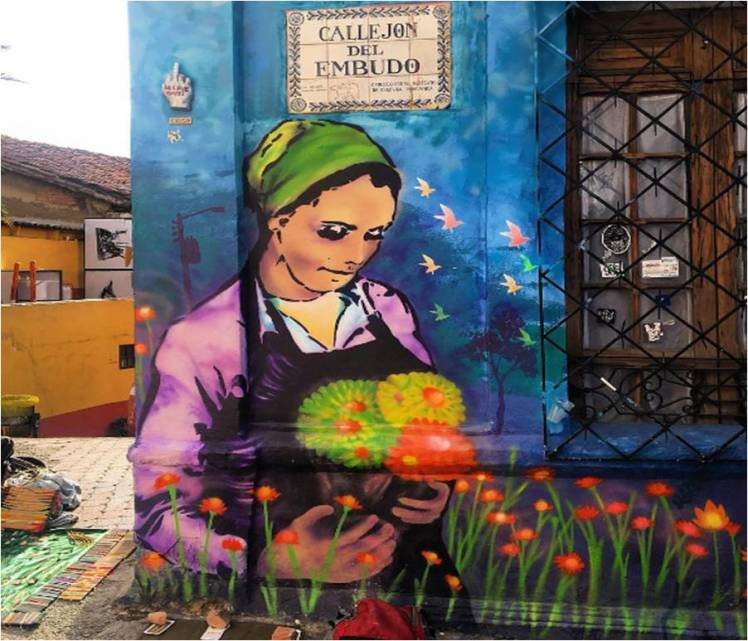 "Bogota is full of beautiful street art, but Susi does not appreciate ""the mess"""