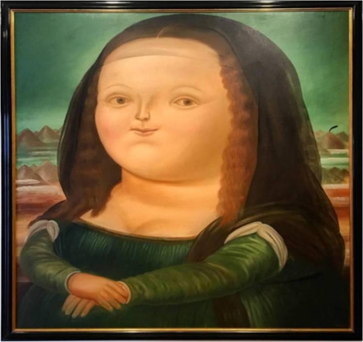 Botero's Mona Lisa, soooo cute!