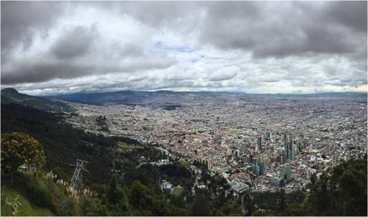 View of the big smoke from Monserrate