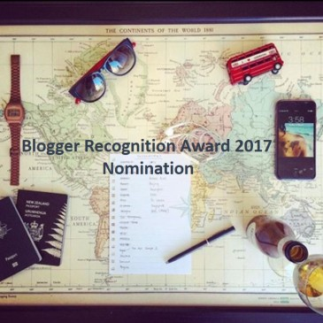 FOMOist - Blogger Recognition Award Nomination 2017