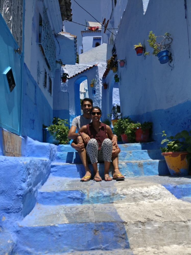 Mr and Mrs FOMOist in Chefchaouen