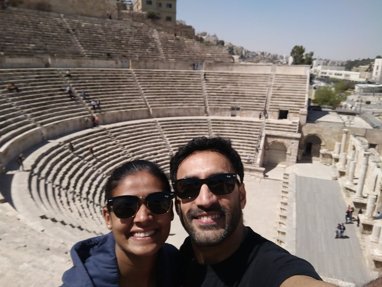 Mr and Mrs FOMOist at the Roman Theatre in Amman