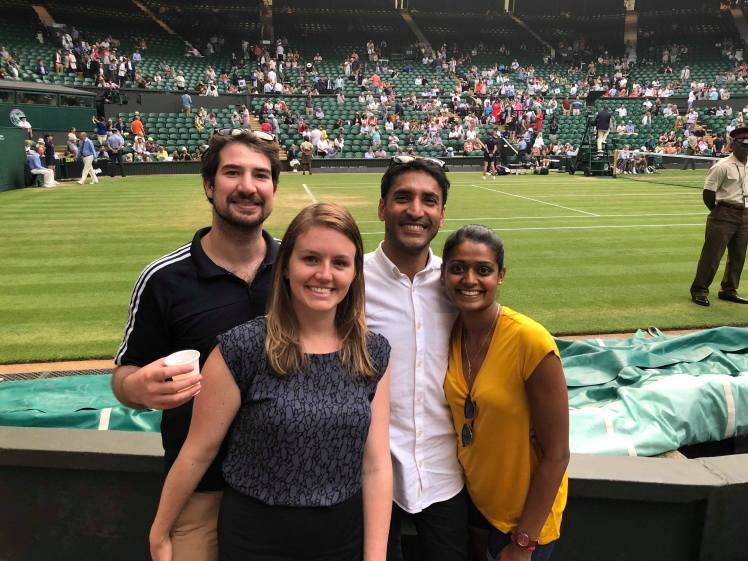 FOMOists and friends at Wimbledon